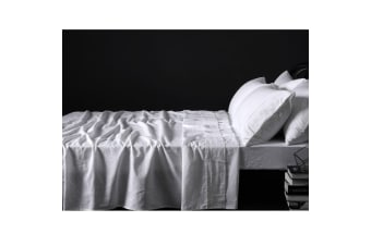 100% Linen White Sheet Set QUEEN