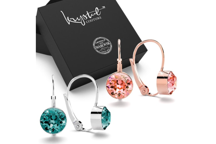 2pc Earrings Set Embellished with Swarovski crystals