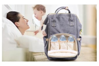 Multifunctiol Large Baby Diaper Backpack Waterproof GREY