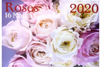 Roses - 2020 Rectangle Flowers Wall Calendar 16 Months New Year Xmas Decor Gift