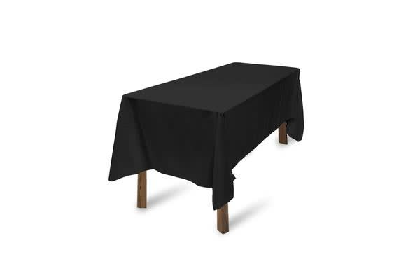 10pcs Rectangle Polyester Tablecloth Home Decor Black 137x244cm