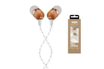 House Of Marley EM-JE041-CPB Smile Jamaica Wood In-Ear Headset Earphones w/ Mic