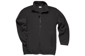 RTXtra Mens Classic Pill Resistant Fleece Jacket (Black)