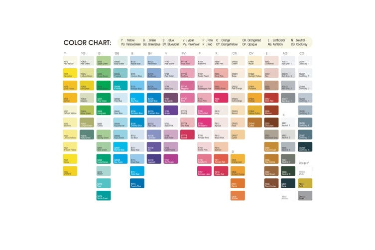 Marvy Le Plume Permanent (Alcohol based ink) 144 Full colour marker set