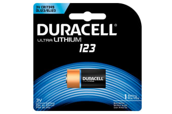 Duracell 3V Ultra Lithium 123 Battery CR123/CR17345/DL123 for Camera/Flash/Mic