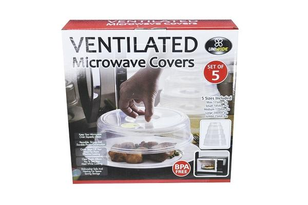 Ventilated Microwave Covers 5Pcs