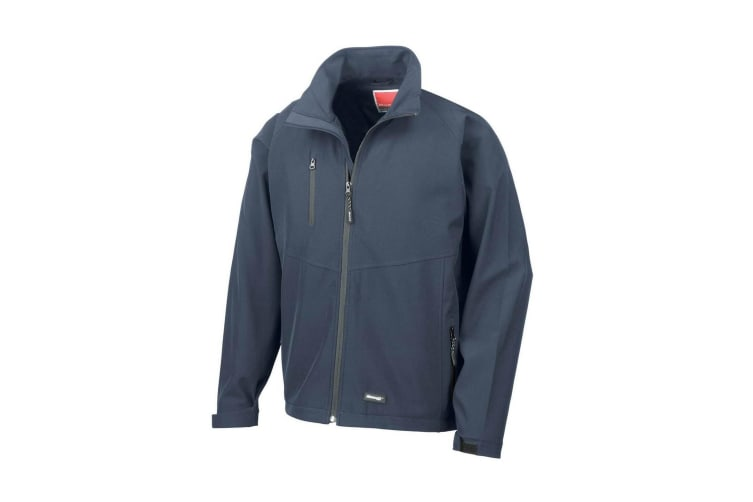 Result Mens 2 Layer Base Softshell Breathable Wind Resistant Jacket (Navy Blue) (XL)