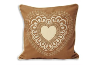 Riva Home Scandi Valentine Cushion Cover (Caramel) (45x45cm)