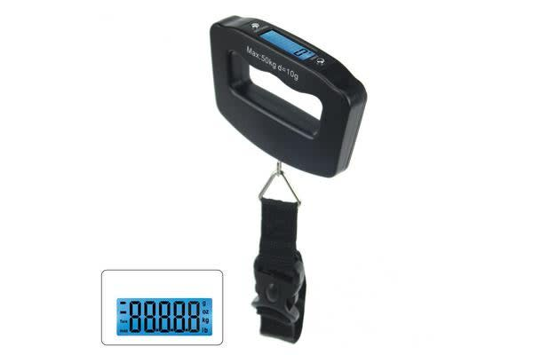 Portable Digital Backlit Lcd Electronic Scale 40Kg/10G Hanging Hook Luggage Weight