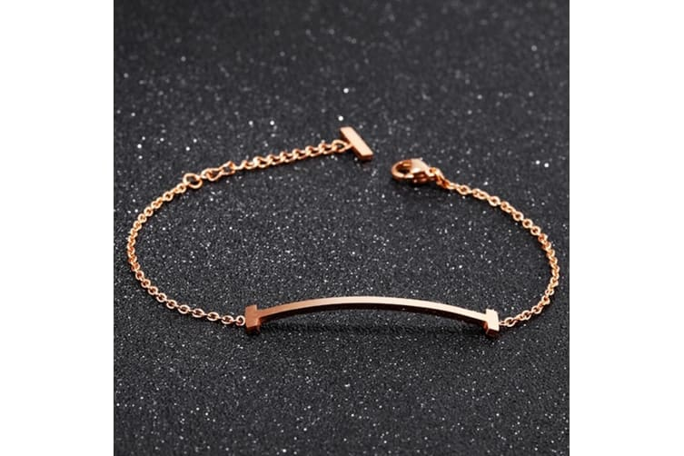Sleek Bar Bracelet-Rose Gold