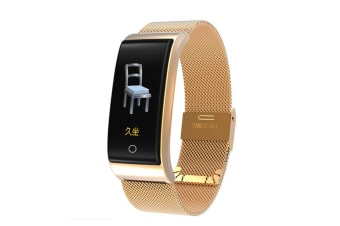 WJS 0.96inch Color Screen Blood Pressure Heart Rate Monitor Sport bluetooth Smart Wristband Watch-GOLD