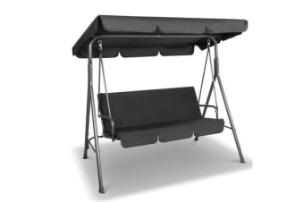 3 Seater Outdoor Canopy Swing Chair (Black)