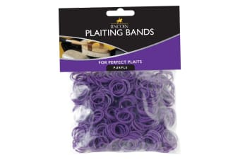 Lincoln Plaiting Bands (500 Pack) (Purple) (One Size)