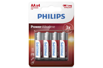 Philips Alkaline Battery 4 x AA - 12 Pack