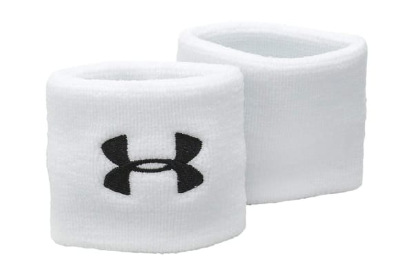 Under Armour Performance Wristbands (White/Black)
