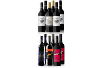 Australian Red Mixed Dozen Featuring Yellow Tail Merlot (12 Bottles)