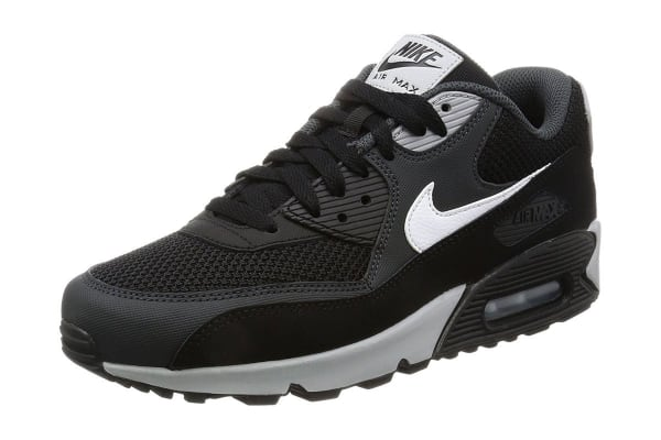Nike Men's Air Max 90 Essential Shoe (Black/White/Grey, Size 8)