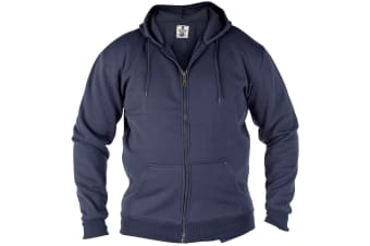 Duke Mens Rockford Kingsize Cantor Zip Through Hooded Sweatshirt (Navy)