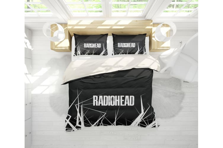 3D Band Radiohead Quilt Cover Set Bedding Set Pillowcases 67-King