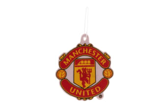 Manchester United FC Official Football Crest Car Air Freshener (White/Red/Yellow) (One Size)