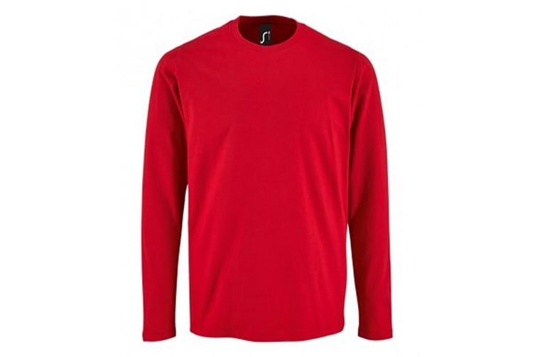 SOLS Mens Imperial Long Sleeve T-Shirt (Red) (M)