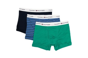 Tommy Hilfiger Men's Cotton Classic Trunks - 3 Pack (Sapphire)