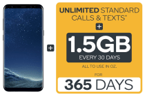Samsung Galaxy S8 (64GB, Black) + Kogan Mobile Prepaid Voucher Code: SMALL (365 Days | 1.5GB Per 30 Days)
