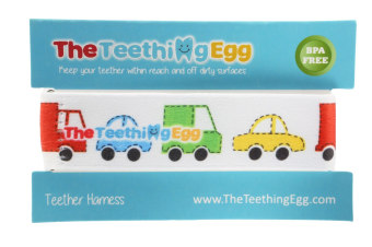 Teething Eggs Soother Strap Cars