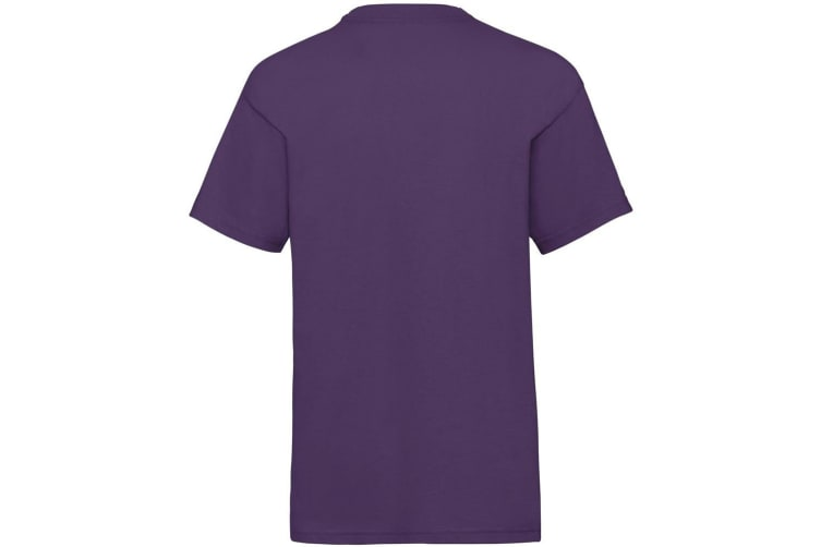 Fruit Of The Loom Childrens/Kids Unisex Valueweight Short Sleeve T-Shirt (Purple) (9-11)