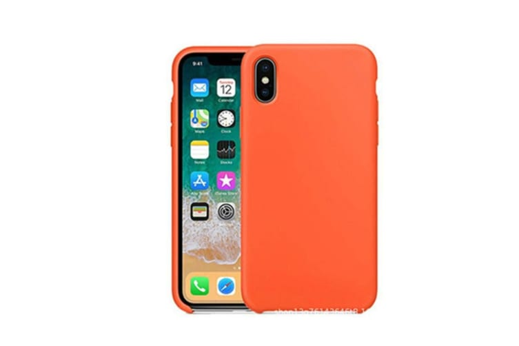 Silicone Gel Rubber Shockproof Protective Case Cover For Iphone Orange I7Plus I8Plus(5.5)