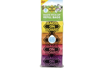 Bags On Board Waste Pick Up Refill Bags Rainbow (Pack fo 60) (Multicoloured) (One Size)