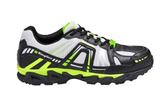 King Gee Men's Comp-Tec G10 Sport Safety Shoe (Black/Lime)