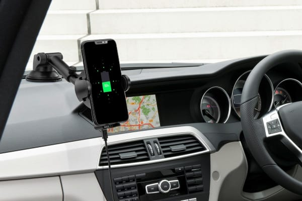 2-in-1 Qi Wireless Charging Car Mount