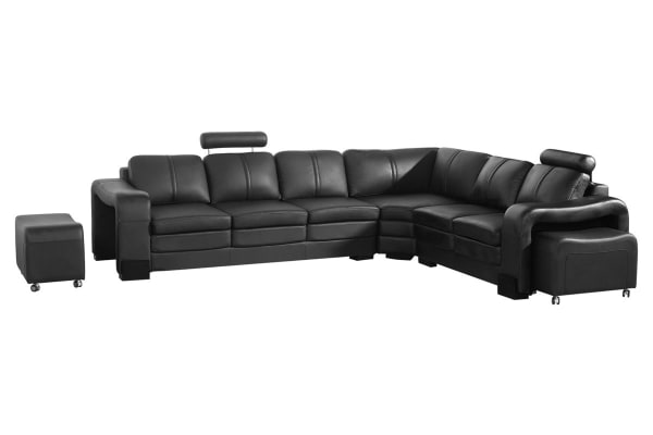 Majestic Corner Sofa Black