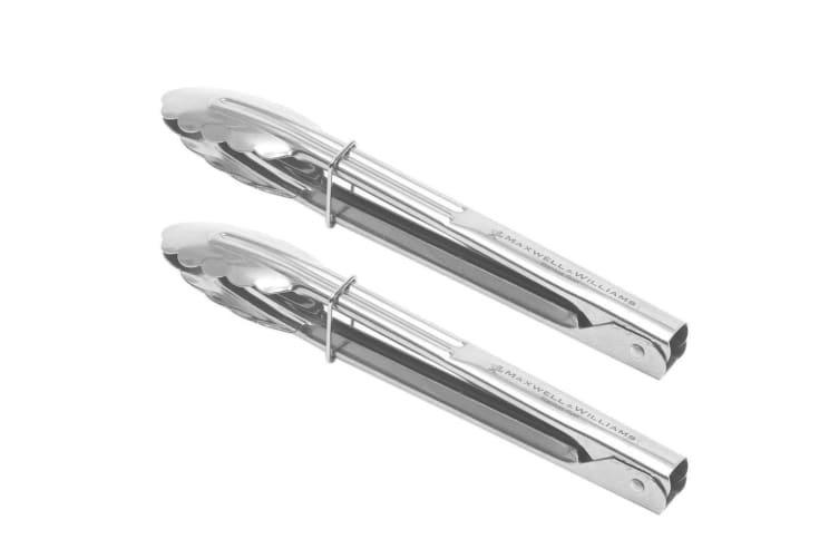 2pc Maxwell Williams 23cm Grabbers Tongs Stainless Steel Food Serving Kitchen