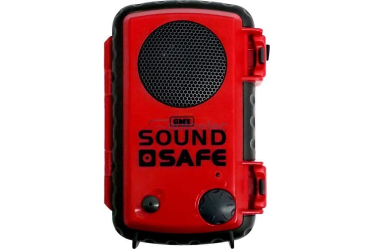 GME SAFE SOUND MP3 IPOD IPHONE WATERPROOF BUOYANT CASE WITH BUILT IN SPEAKER RED