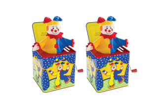 2PK Schylling Jester Jack In the Box Baby/Infant 18m+ Clown Musical Pop Up Toy