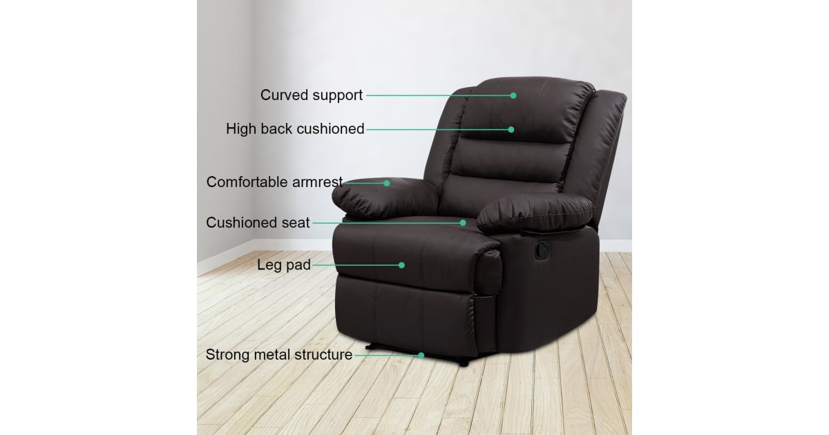 Super Luxury Pu Leather Recliner Chair Armchair Lounging Sofa Brown Office Chairs Ncnpc Chair Design For Home Ncnpcorg