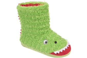Trespass Childrens/Boys Dino Novelty Boot Slippers (Clover) (1/2 UK)