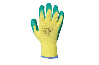 Portwest Fortis Grip Gloves (A150) / Workwear / Safetywear (Pack of 2) (Yellow/ Green)