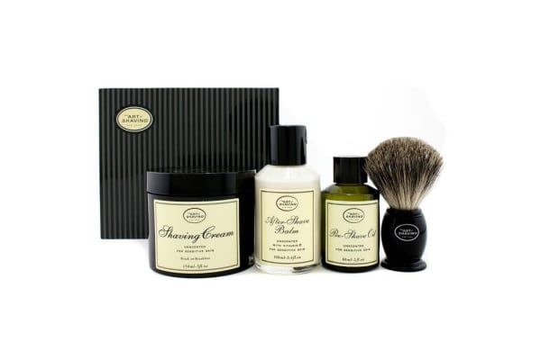 The Art Of Shaving The 4 Elements Of The Perfect Shave - Unscented (New Packaging) (Pre Shave Oil + Shave Crm + A/S Balm + Brush) (4pcs)