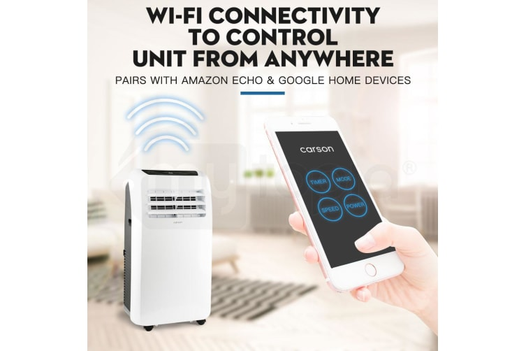 CARSON Portable Air Conditioner - Mobile Fan Cooler Dehumidifier WiFi Aircon