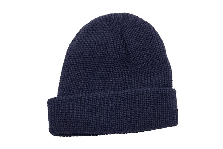 Regatta Unisex Fully Ribbed Winter Watch Cap / Hat (Navy) (One Size)