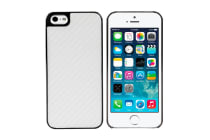 Carbon Fibre Look Case for iPhone 5/5s/SE (White)