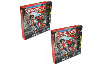 2PK Monopoly Junior 5y+ Incredibles 2 Kids/Children Property Trading Board Game