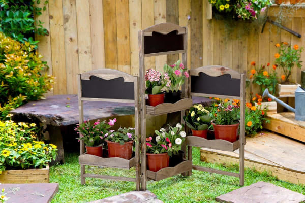 Pine Wood 3-Piece Garden Planter Set