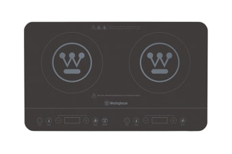 Westinghouse 2400W Twin Induction Cook Top - Black