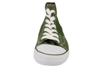 Spot On Mens Canvas Baseball Boots (Khaki) (6 UK)