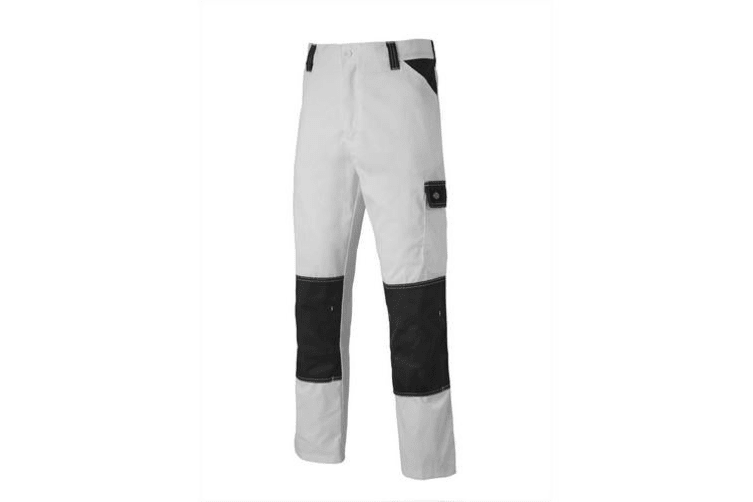 Dickies Mens Everyday Durable Cargo Pocket Work Trousers (White/Grey) (38T)