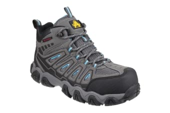 Amblers Safety Womens/Ladies AS802 Waterproof Non-Metal Safety Boots (Grey)